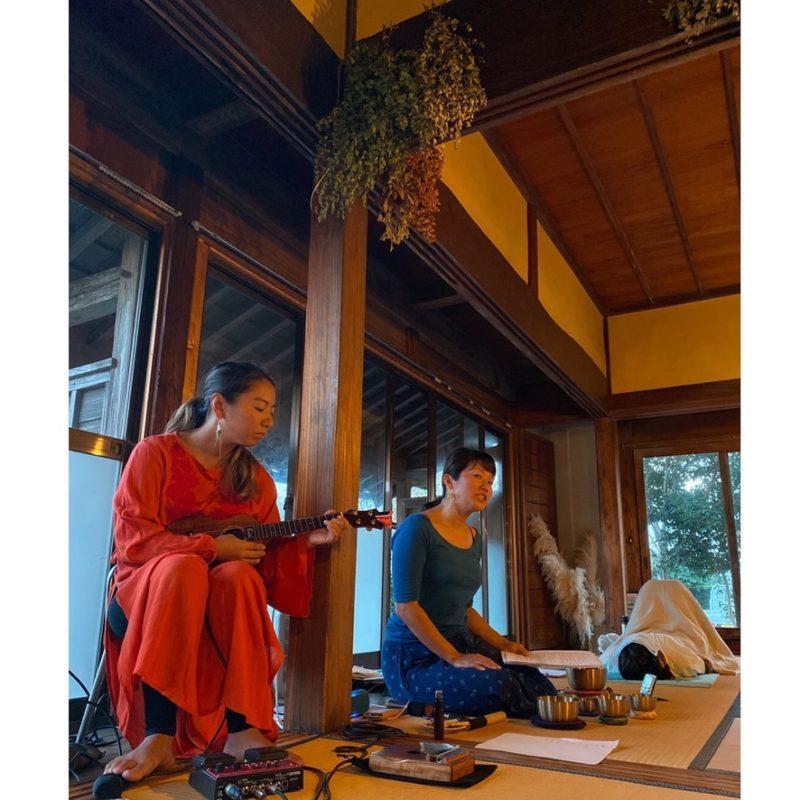 ありがとうございました。Sound healing & Meditation Love my self with @kiriharebare @fato.cafe